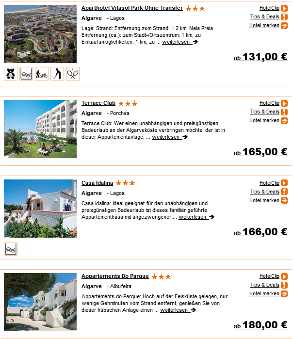 1 Woche Portugal Flug Hotel Pauschalurlaub ab 131.- Euro