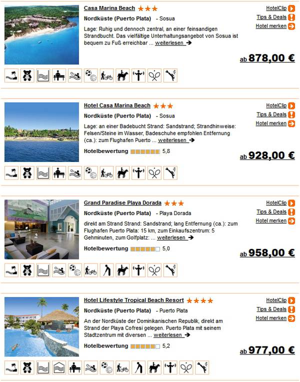 DomRep 2 Wochen 3 - 4 Sterne Hotels All-inklusive ab 878 Euro